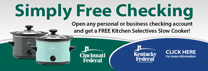 Simply Free Checking Crockpot Giveaway